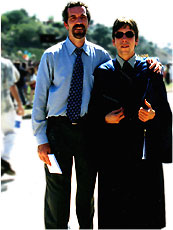 John with his son at graduation from UC High
