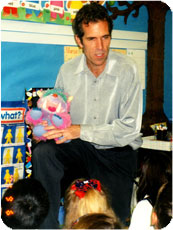 John talking with kindergarteners